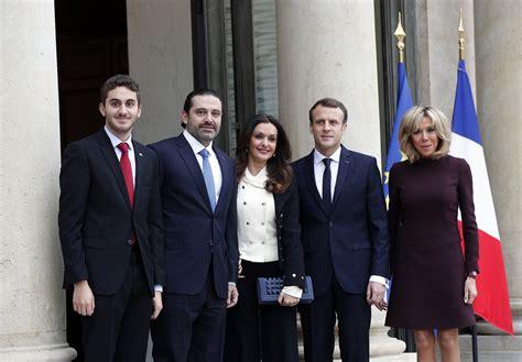 emmanuel macron hariri with hariri in france trump and macron discuss countering