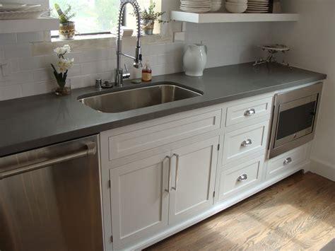 Custom Shaker with inset doors and concrete gray quartz countertop   Yelp