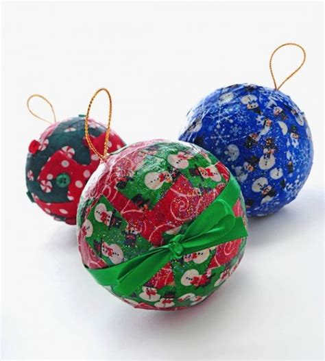 diy fabric christmas tree ornaments to make with your