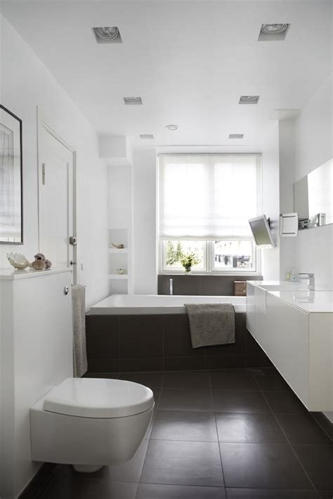 dark brown and white bathroom 35 dark brown bathroom floor tile ideas and pictures
