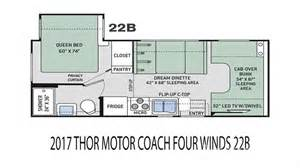 Four Winds Travel Trailer Floor Plans by 2017 Thor Motor Coach Four Winds 22b For Sale In Tucson