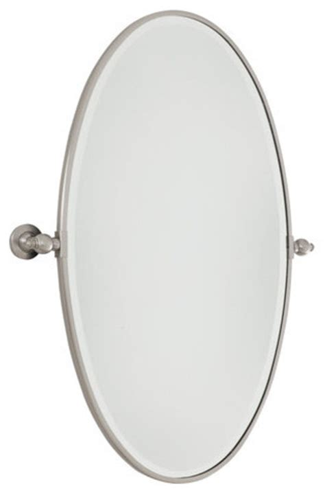 extra large bathroom mirrors minka lavery 1432 267 extra large oval pivoting bathroom mirror traditional mirrors