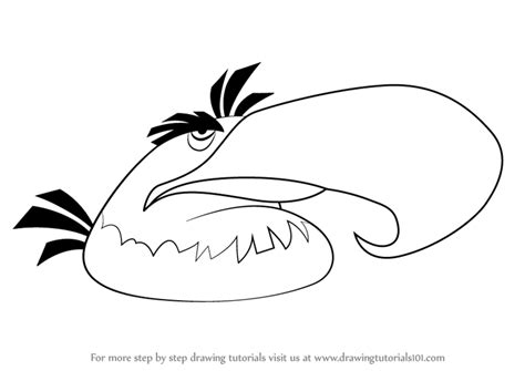 mighty eagle coloring page learn how to draw mighty eagle from angry birds angry