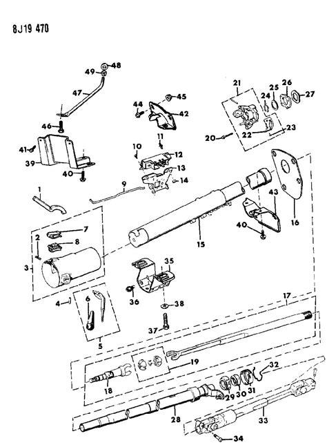 Jeep Yj Steering Column Housing Steering Column Lower W Column Gear Shift W Tilt