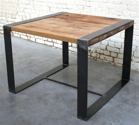 Table Bois Industriel by Table Rc T002 Giani Desmet Meubles Indus Bois M 233 Tal Et Cuir