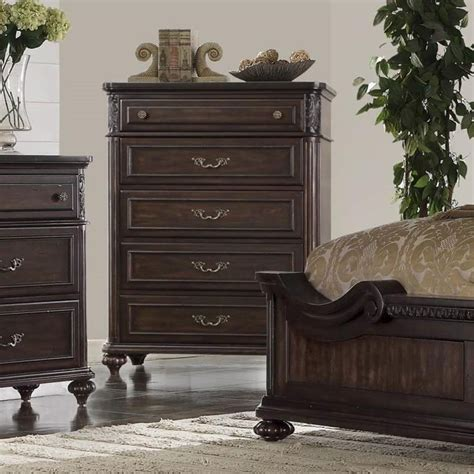 Bedroom Furniture Nottingham Bernards Nottingham 1610 150 Traditional Chest In Cherry Finish Great American Home Store
