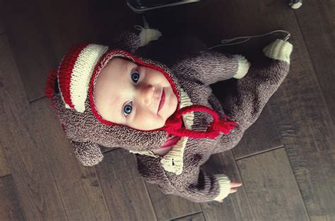 tutorial baby knit sock monkey costume
