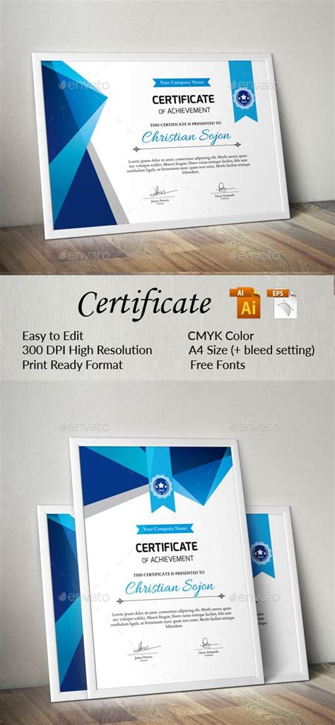 ai certificate template 17 best images about certificate templates on
