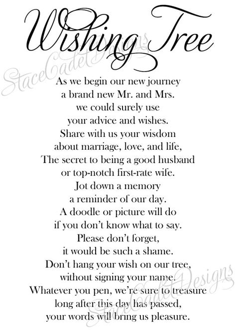 items similar to custom printable wedding wishing tree