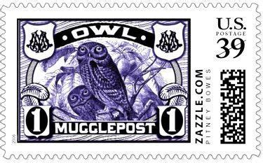 printable owl post timbre muggle post take me to hogwarts pinterest