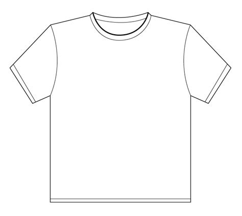 printable blank tshirt template t shirt outline printable clipart best