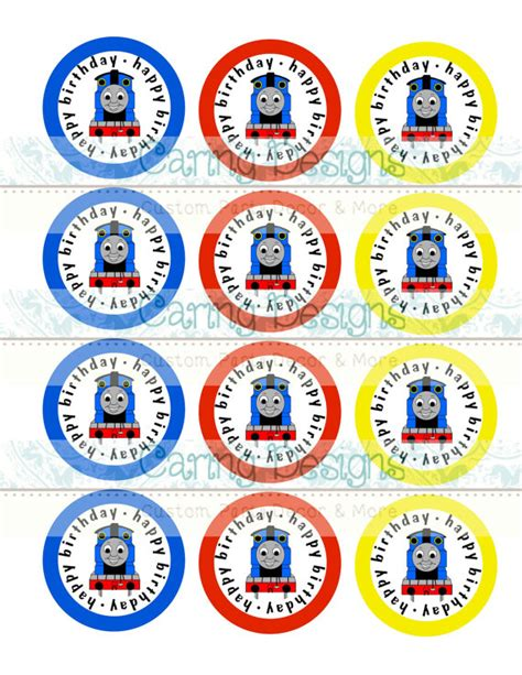 printable thomas the train party decorations instant download printable thomas the train cupcake