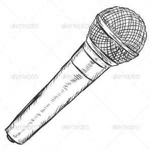 Computer Microphone Drawing Sketch Coloring Page sketch template