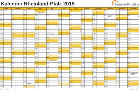 Kalender F R 2018 Feiertage 2018 Rheinland Pfalz Kalender
