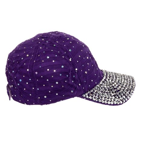 Studded Baseball Cap s sequin rhinestone studded adjustable