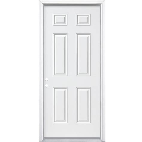 shop reliabilt 6 panel insulating right inswing steel primed prehung entry door
