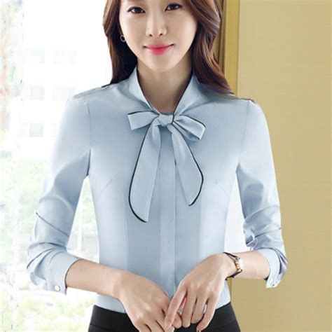 Bow Tie Blouse Sleeve by 2016 Autumn Sleeve Bow Blouses White