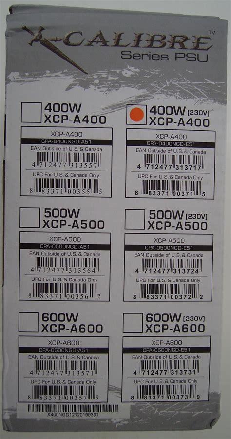 Power Supply 400w X Calibre Xcp A400 xigmatek x calibre 400w xcp a400 review