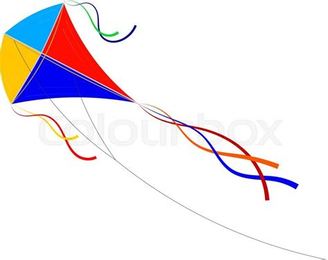 Find Home Plans by Vector Cartoon Kite On A White Background Colored