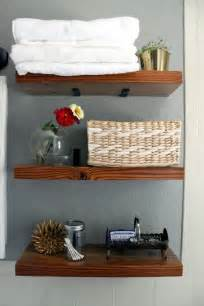 Diy Shelves For Bathroom Diy Bathroom Shelves With L Brackets Dyi