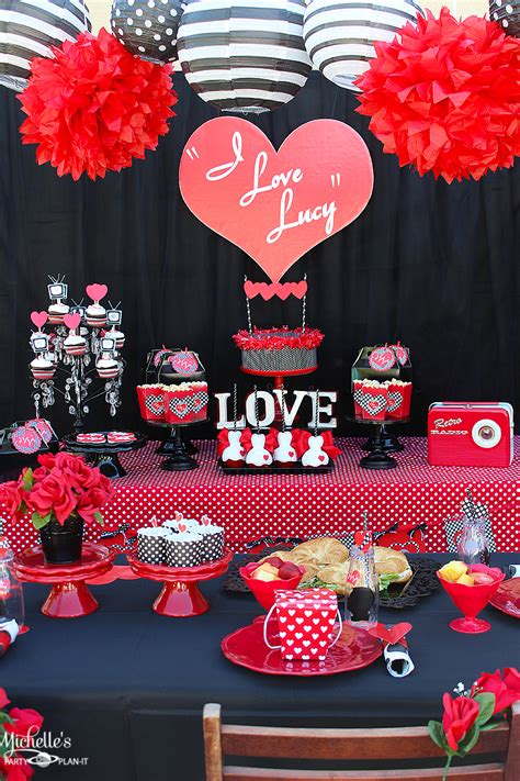love themes for parties i love lucy party galentine s day michelle s party plan it