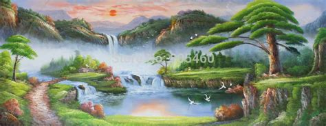 Handmade Nature Paintings - scenery painting www imgkid the image kid