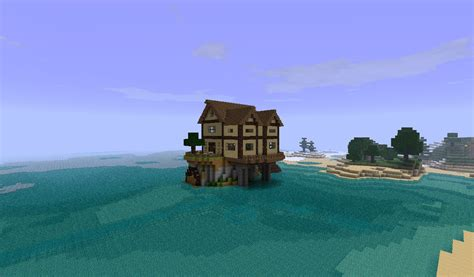 island house small cottage island house minecraft project