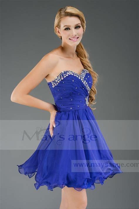 Robe Bustier Bleu Roi Mariage - robe courte pour demoiselle d honneur c468 bleu roi