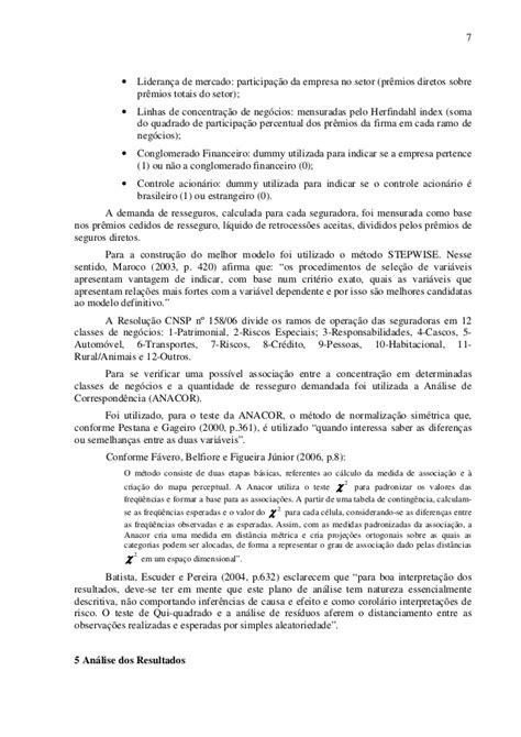 Demanda de resseguros no brasil