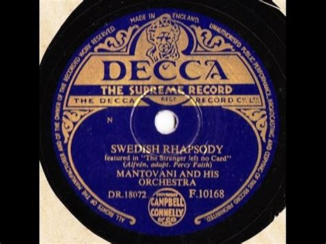 mantovani swedish rhapsody mantovani and his orchestra swedish rhapsody 78 rpm