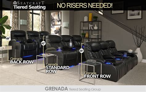 seatcraft tiered home theater seating  risers