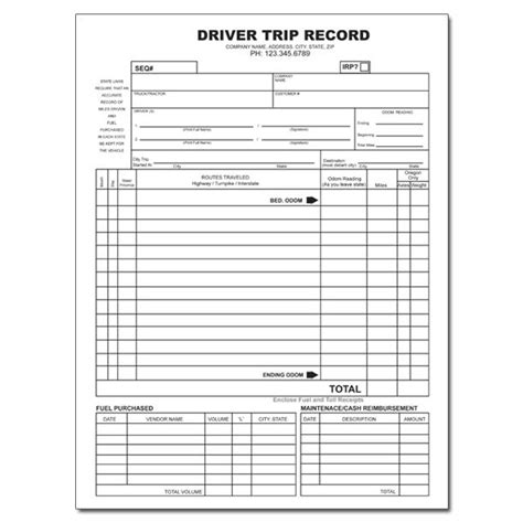 truck report template trucking company forms and envelopes custom printing