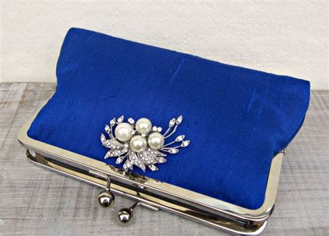 Another Etsy Find The Satin Rolled Clutch by The 25 Best Royal Blue Clutch Bag Ideas On