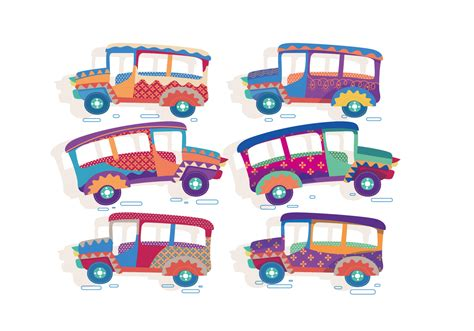 philippines jeepney vector jeepney cute vector download free vector art stock
