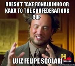 doesn't take ronaldinho or kaka to the confederations cup