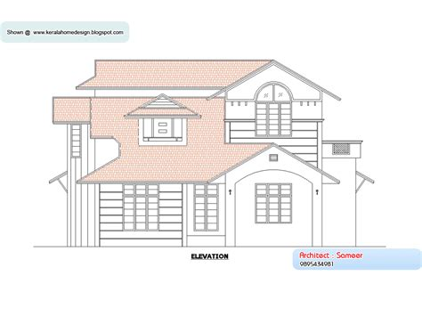 floor plan and elevation of a house home plan and elevation 2138 sq ft kerala home design