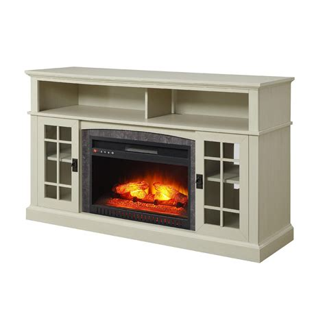 electric fireplace 55 tv stand media fireplace tv stand tvs up to 65 quot black white