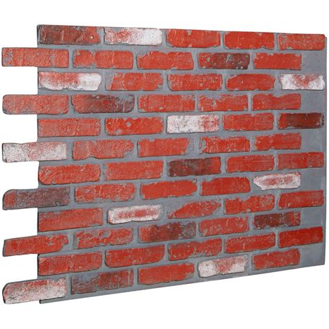 Home Depot Decorative Bricks by Ekena Millwork 7 8 In X 46 5 8 In X 33 3 4 In Aged