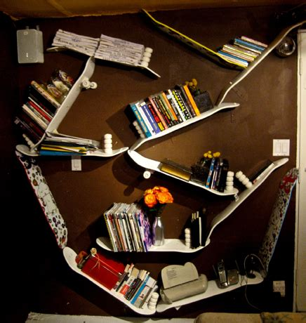 practical diy skateboard bookshelves