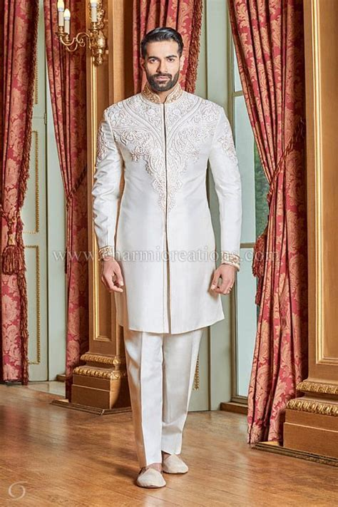 Mens Sherwani Suits Wedding Dresses for Men, Asian Groom