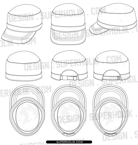 hat design template 18 hat template vector images hat template
