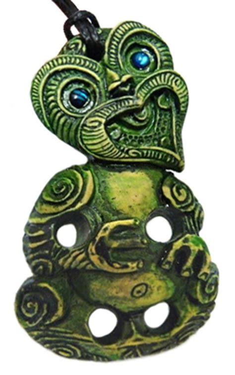 Green Stone Like Maori Hei Tiki Pendant