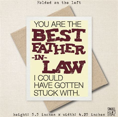 Gift Card Laws Canada - you re the best father in law father s day card