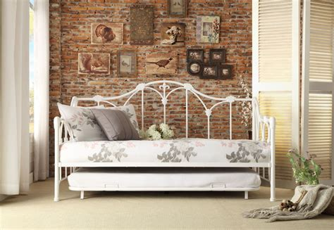 White Metal Daybed Ruby White Metal Daybed With Trundle From Homelegance 4961db Nt Coleman Furniture