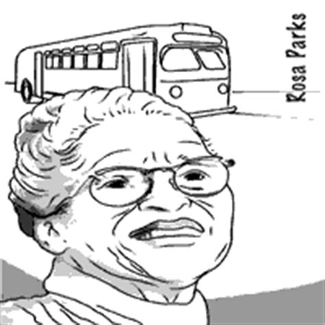 Women S History Month 187 Coloring Pages 187 Surfnetkids Rosa Parks Coloring