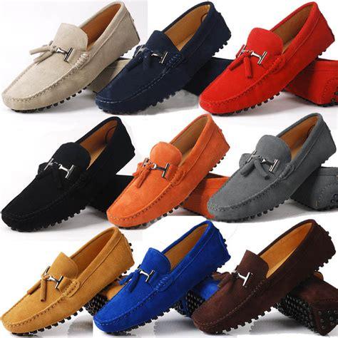 us 6 10 seude leather mens comfort tassel loafer slip on