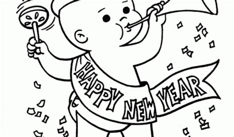baby new year coloring pages baby new year coloring pages