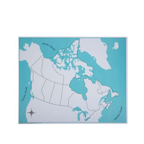 canadian map unlabeled montessori geography materials