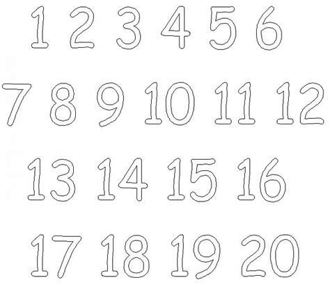 Numeri da uno aventi da colorare gratis per bambini