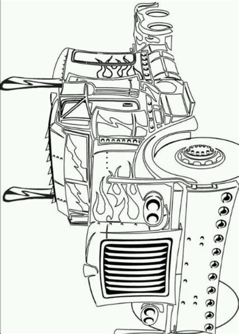 optimus prime coloring page alfonso s 5th pinterest